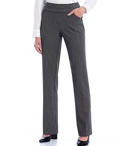 Investments Petite Size the PARK AVE fit Straight Leg Pull-On Novelty Print Pants