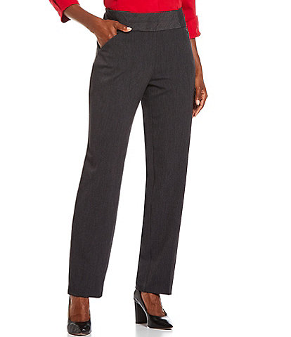Investments Petite Size the PARK AVE fit Straight Leg Pull-On Pants