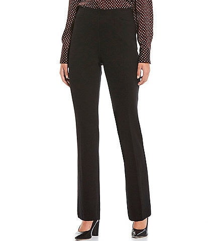 Investments Petite Size the REGENT fit Pull-On Straight Leg Pants