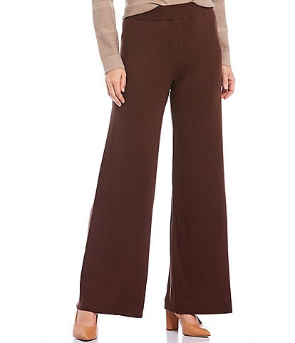 Investments Petite Size Wide Leg Pull-On Pants
