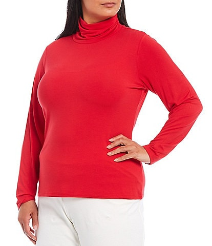Investments Plus Size Essentials Long Sleeve Turtleneck Top