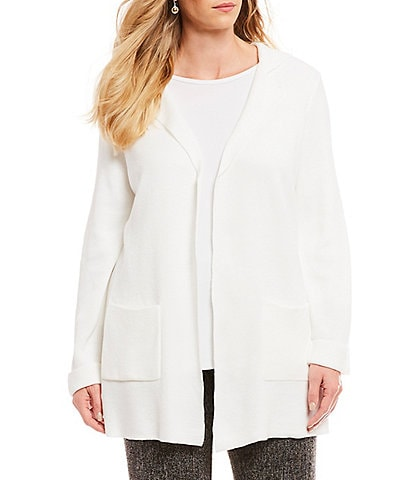 Investments Plus Size Long Sleeve Notch Collar Cardigan
