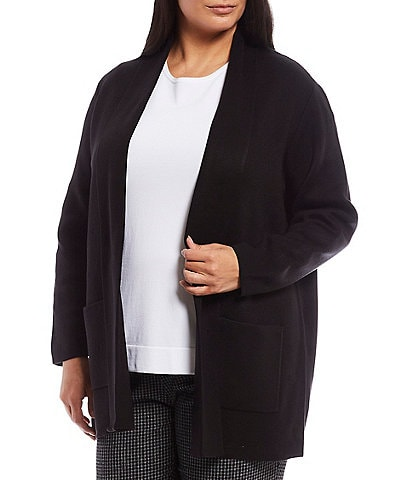 Investments Plus Size Long Sleeve Open Front Cardigan