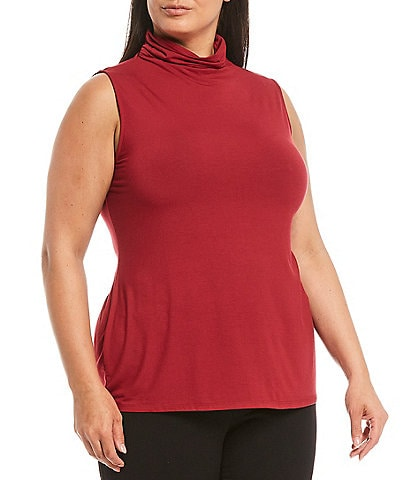 Investments Plus Size Sleeveless Mock Neck Top