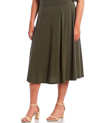 Investments Plus Size Soft Separates Pull-On Skirt