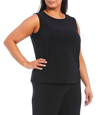 Investments Plus Size Soft Separates Sleeveless Top