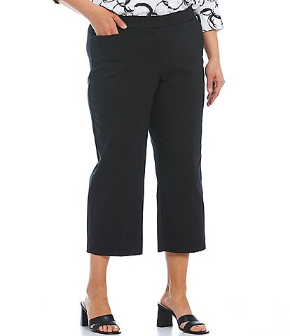 Investments Plus Size the 5th AVE Fit Elite Stretch Crop Pants