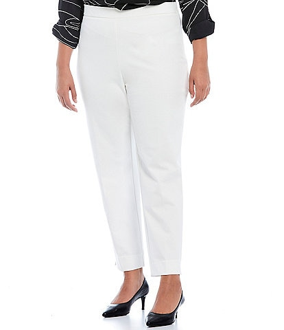 Investments Plus Size The 5th AVE Fit Side Zip Slim Leg Pants