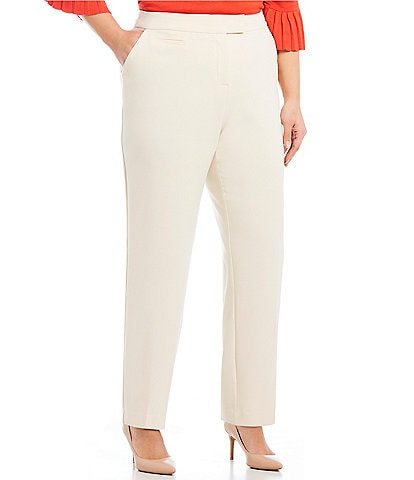 7ad2c7f891619 Investments Plus Size the 5TH AVE fit Straight Leg Pants