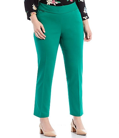Investments Plus Size the PARK AVE fit Elite Stretch Ankle Pants