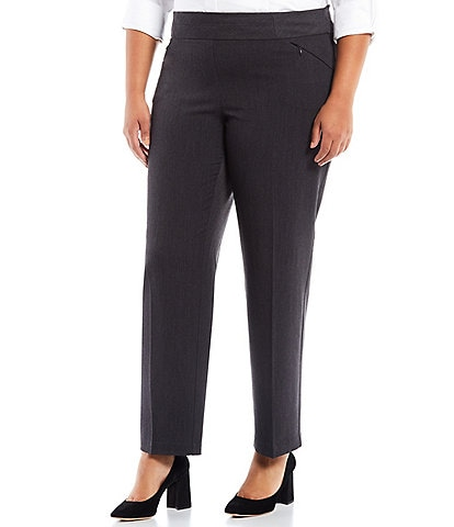 Investments Plus Size the PARK AVE fit Straight Leg Pull-On Pants