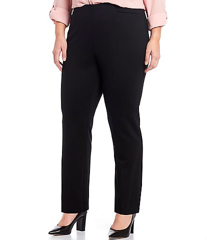 Investments Plus Size the REGENT ST fit Pull-On Straight Leg Pants