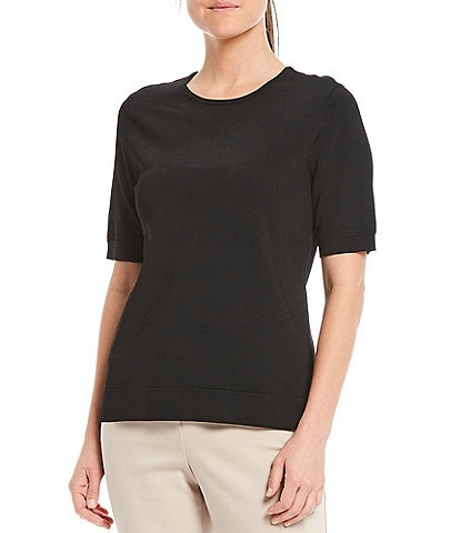 Investments Signature Yarn Short Sleeve Crew Neck Top