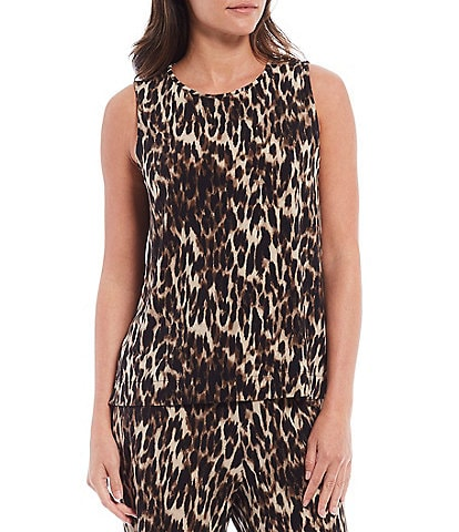 Investments Soft Separates Leopard Print Sleeveless Top