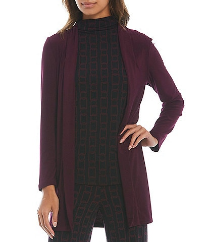 Investments Soft Separates Long Sleeve Open Front Cardigan