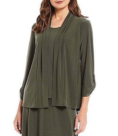 Investments Soft Separates Long Sleeve Open-Front Jacket