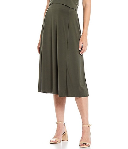 Investments Soft Separates Pull-On A-Line Skirt