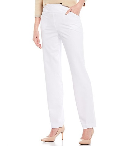 Investments the PARK AVE fit Stretch Straight Leg Pull-On Pants With Pockets