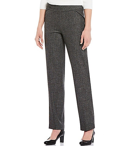 Investments the PARK AVE fit Pull-On Straight Leg Tweed Pants with Pockets
