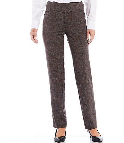 Investments the PARK AVE fit Straight Leg Plaid Pull-On Pants with Pockets