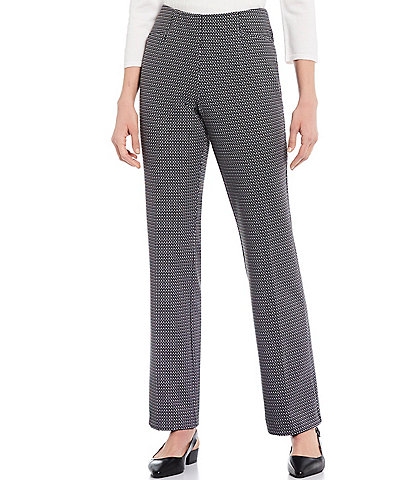 Investments the REGENT ST fit Pull-On Straight Leg Geo Print Pants