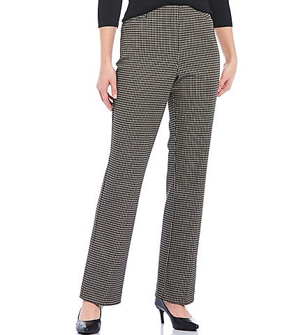 Investments the REGENT ST fit Pull-On Straight Leg Houndstooth Pants
