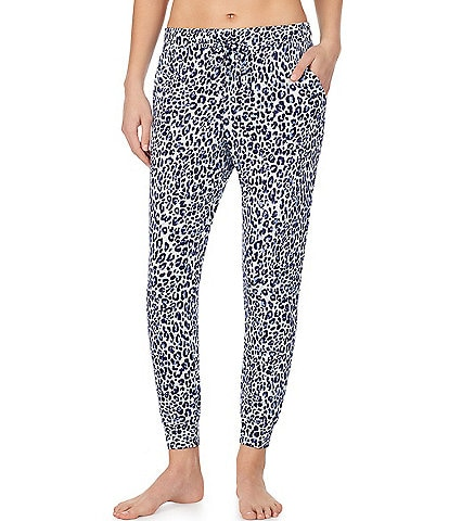 iRelax Animal Print French Terry Jogger Pants