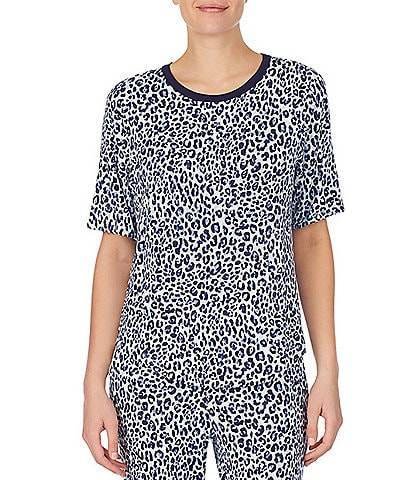 iRelax Animal Print French Terry Top