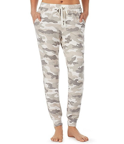 iRelax Camo Printed Brushed French Terry Coordinating Drawstring Jogger Pants