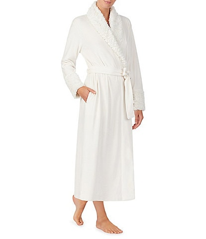 Irelax Double Face Velour Long Wrap Shawl Collar Robe