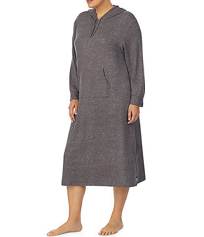 iRelax Plus Hooded Long Sleeve Jersey Knit Maxi Lounger