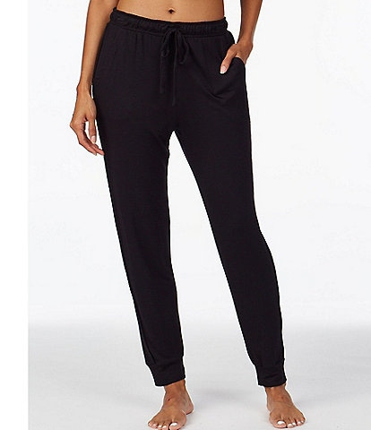 iRelax Solid French Terry Knit Jogger Sleep Pants