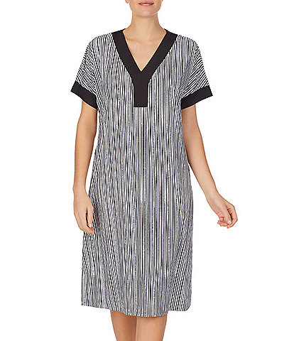 iRelax Striped-Print Recycled Caftan