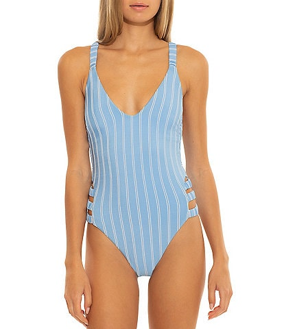 Isabella Rose Sugar On Top Side Cut Out One Piece Swimsuit