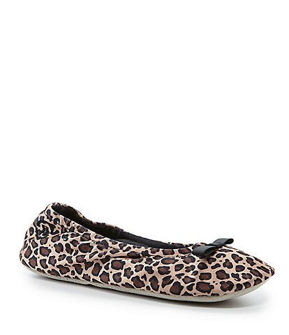 Isotoner Classic Satin Ballerina Slippers