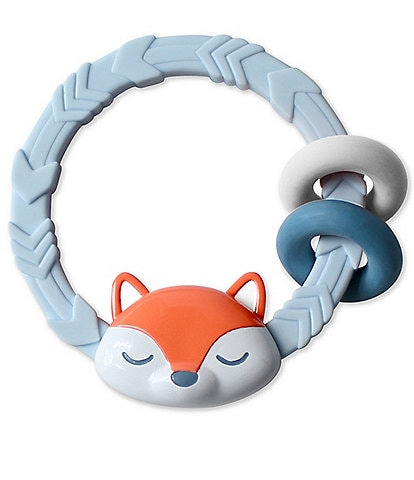 Itzy Ritzy Rattle & Teether Rings - Fox