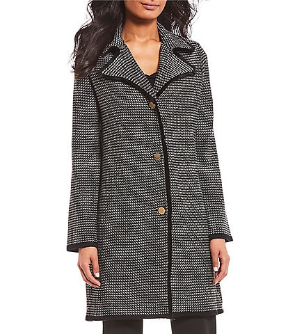 Ivanka Trump Striped Tweed Knit Topper Jacket