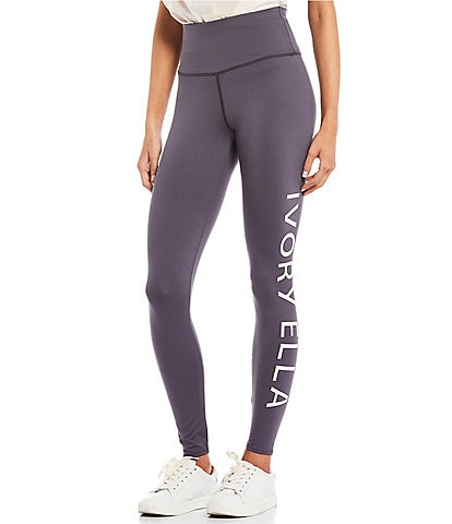 Ivory Ella High Rise Logo Leggings