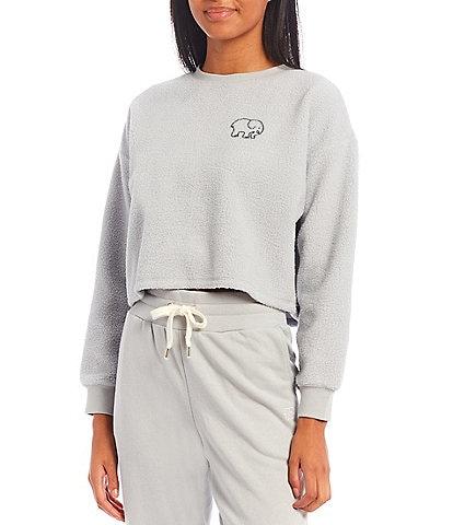 Ivory Ella Long-Sleeve Graphic Fleece Sweatshirt