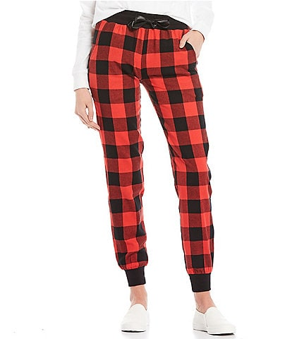 Ivory Ella Organic Cotton Buffalo Plaid Holiday Pants