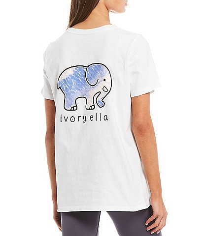 Ivory Ella Organic Cotton Logo Graphic Pocket Tee
