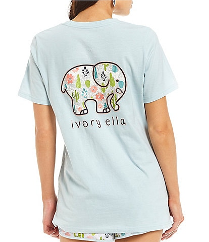 Ivory Ella Short Sleeve Cactus Graphic Ella Tee