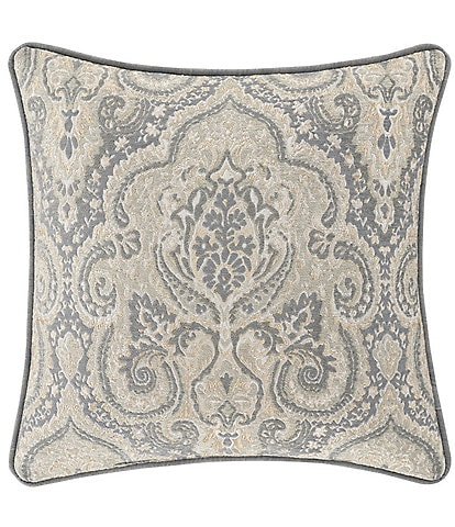 J. Queen New York Aidan 20#double; Square Damask Decorative Throw Pillow