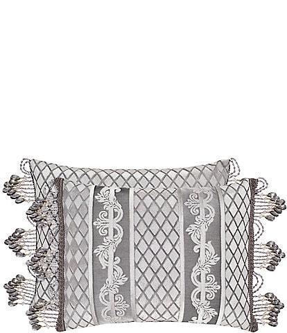 J. Queen New York Belaire Crystal-Trimmed Breakfast Pillow