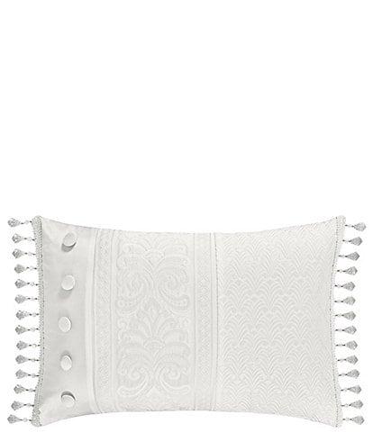 J. Queen New York Bianco Bead-Tasseled Boudoir Pillow