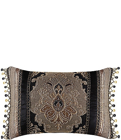 J. Queen New York Bradshaw Beaded Velvet Boudoir Pillow
