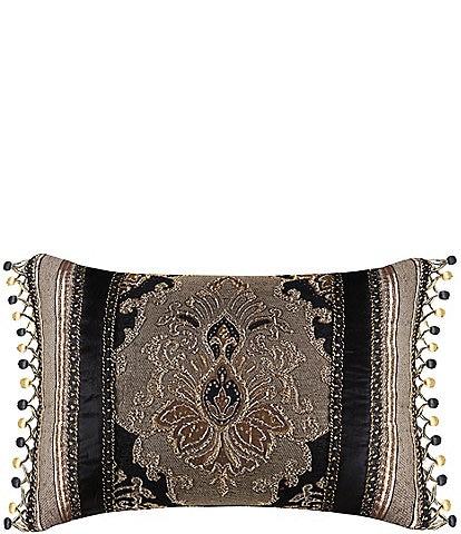 J. Queen New York Bradshaw Beaded Velvet Boudoir Pillow