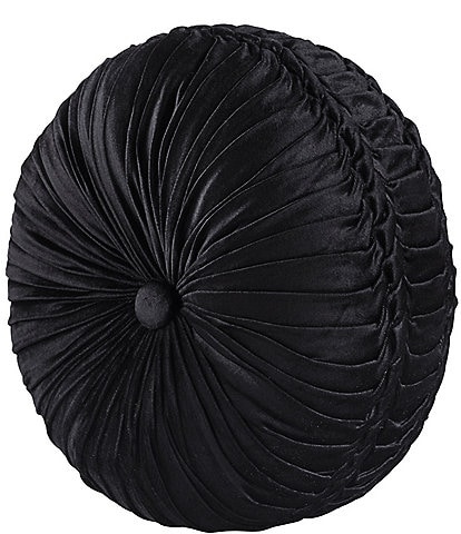 J. Queen New York Bradshaw Button-Tufted Round Pillow