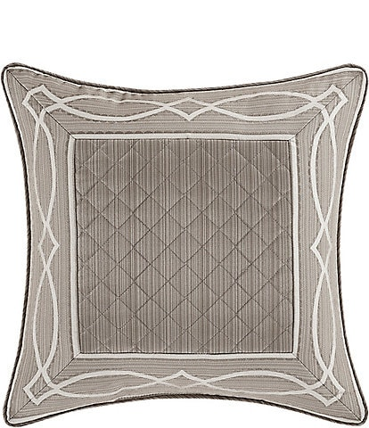 J. Queen New York Deco Stria Satin Square Pillow