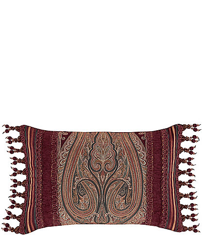 J. Queen New York Garnet Boudoir Pillow